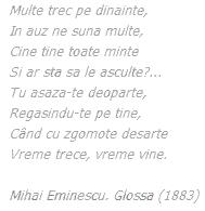 Eminescu- Glossa