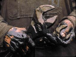 greasy hands